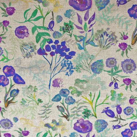 Art of the Loom Indian Summer Fabrics Poppy Fabric - Cornflower - POPPYCORNFLOWER