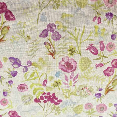 Art of the Loom Indian Summer Fabrics Poppy Fabric - Plum - POPPYPLUM