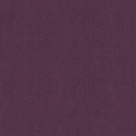 Art of the Loom Ombre Check Fabrics Elgar Wool Plain Fabric - Blackcurrant - ELGARBLACKCURRANT