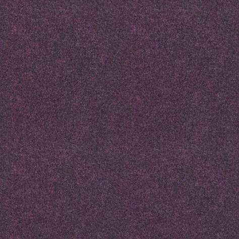 Art of the Loom Ombre Check Fabrics Elgar Wool Plain Fabric - Elderberry - ELGARELDERBERRY