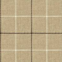 Brunel Check Fabric - Chocolate