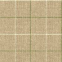 Brunel Check Fabric - Leaf