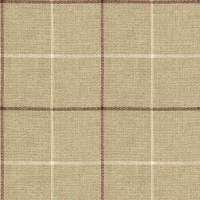 Brunel Check Fabric - Plum