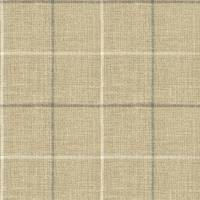 Brunel Check Fabric - Steel