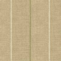 Brunel Stripe Fabric - Leaf
