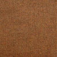 Herringbone Fabric - Burnt Umber