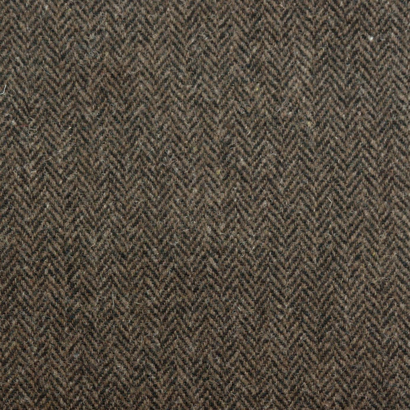 Curtains In Herringbone Fabric Peatland