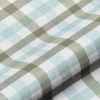 Lytham Check Fabric - Duckegg