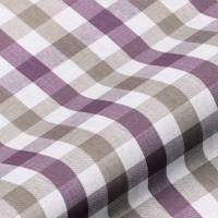 Lytham Check Fabric - Plum