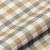 Lytham Check Fabric - Toffee
