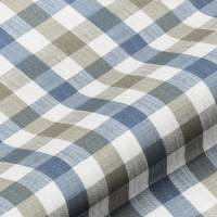 Lytham Check Fabric - Denim