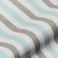 Lytham Stripe Fabric - Duckegg