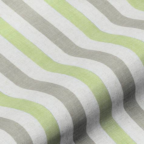 Art of the Loom Lytham Fabrics Lytham Stripe Fabric - Lime - LYTHAMSTRIPELIME