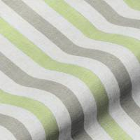 Lytham Stripe Fabric - Lime
