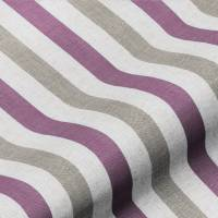 Lytham Stripe Fabric - Plum