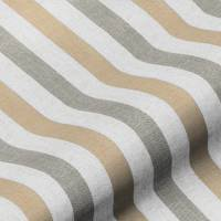 Lytham Stripe Fabric - Toffee
