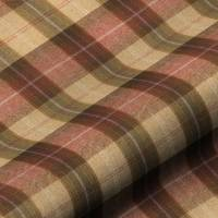 Wool Plaid Fabric - Autumn Berry