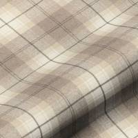 Wool Plaid Fabric - Devon Fudge