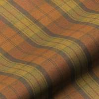 Wool Plaid Fabric - Orange Marmalade