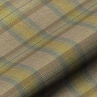 Wool Plaid Fabric - Olive Grove