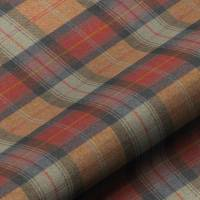 Wool Plaid Fabric - Orchards Fruits