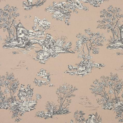 Casadeco Chantilly Fabrics & Wallpapers Jouy Fabric - Linen - 22879115