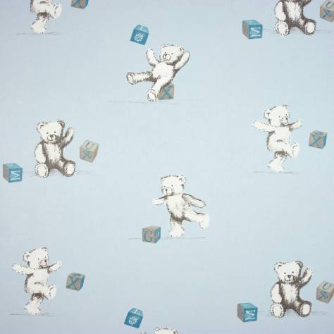 Casadeco Douce Nuit Fabrics & Wallpapers Oursons et Cubes Fabric - 22546101