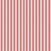 Rayure Pois Fabric - Rouge