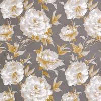 Grande Fleur Satin Fabric - Yellow