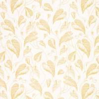 Feuille de Vigne Satin Fabric - Yellow