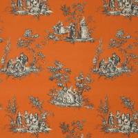 Scene Reina Lin Fabric - Orange
