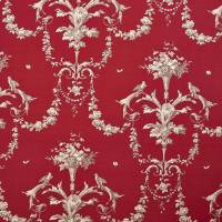Paon Reina Lin Fabric - Rouge