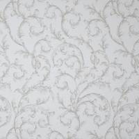 Arabesque Reina Blanc Fabric - Bleu