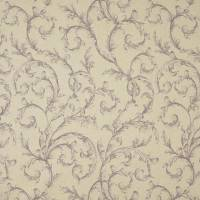 Arabesque Reina Lin Fabric - Prune