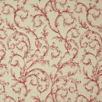 Arabesque Reina Lin Fabric - Rouge