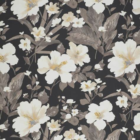 Casadeco Florescence Fabrics and Wallpapers Luxembourg Fabric - Noir - 82429548