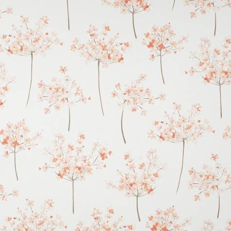 Casadeco Florescence Fabrics and Wallpapers Boboli Fabric - Corail - 82463156