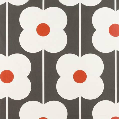 Ashley Wilde Orla Kiely Prints Vol I Fabrics Abacus Flower Fabric - Tomato - ABACUSFLOWERTOMATO