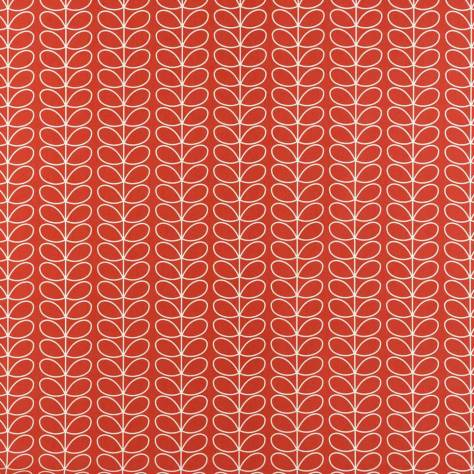 Ashley Wilde Orla Kiely Prints Vol I Fabrics Linear Stem Fabric - Tomato - LINEARSTEMTOMATO