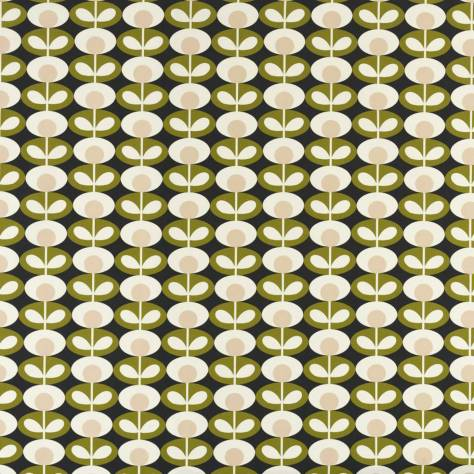 Ashley Wilde Orla Kiely Prints Vol I Fabrics Oval Flower Fabric - Seagrass - OVALFLOWERSEAGRASS