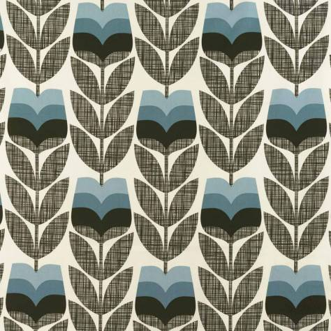Ashley Wilde Orla Kiely Prints Vol I Fabrics Rose Bud Fabric - Powder Blue - ROSEBUDPOWDERBLUE