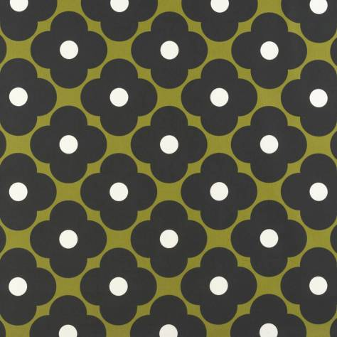 Ashley Wilde Orla Kiely Prints Vol I Fabrics Spot Flower Fabric - Seagrass - SPOTFLOWERSEAGRASS