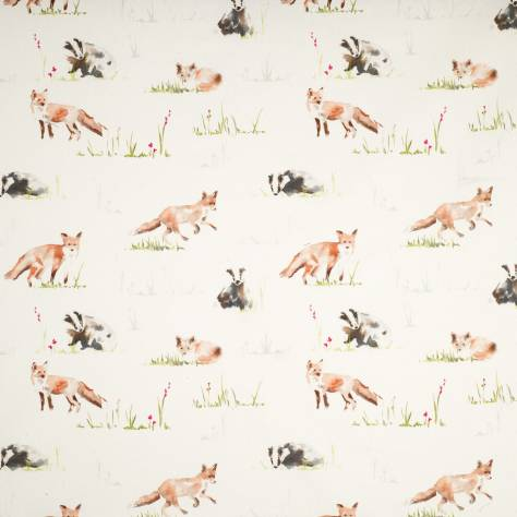 Ashley Wilde Hampstead Fabrics Fox Fabric - Multi - FOXMULTI - Image 1