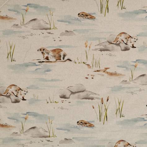Ashley Wilde Glenmore Fabrics Otter Fabric - Biscuit - OTTERBISCUIT