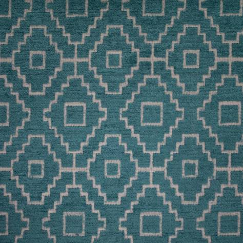 Ashley Wilde Kenza Fabrics Kenza Fabric - Teal - KENZATEAL