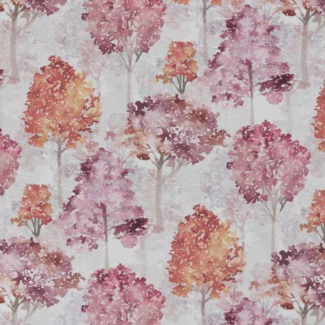 Ashley Wilde New Forest Fabrics Rosewood Fabric - Berry - ROSEWOODBERRY