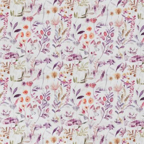 Ashley Wilde New Forest Fabrics Winsford Fabric - Berry - WINSFORDBERRY