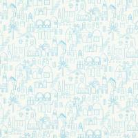 Teeny Santorini Fabric - Aqua