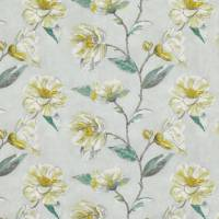 Japonica Embroidery Fabric - Cypress