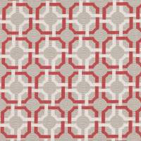 Orton Fabric - Red Tulip